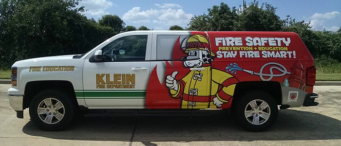 sparky fire safety truck