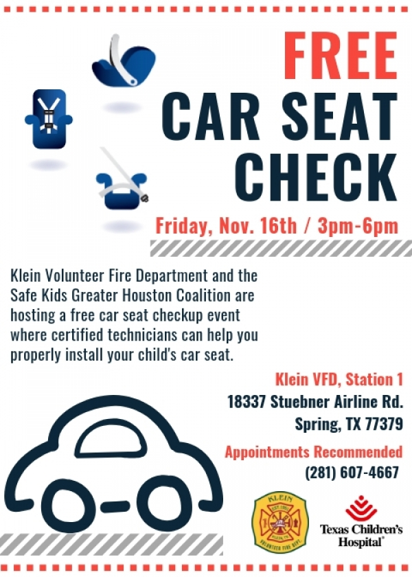 FREE Car Seat Check Event