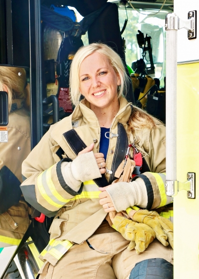 KFD's First Paid Female Firefighter is Making News!